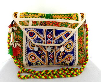 Kutchi Embroidery Work Banjara Bag India Traditional Handbags