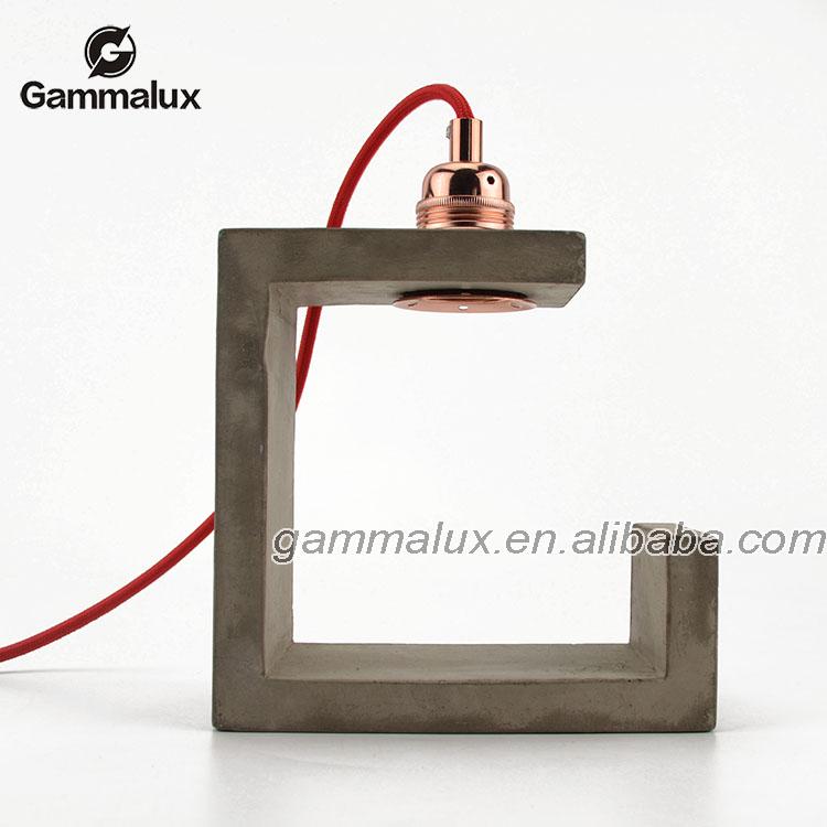 Concrete Light Modern Table Lamp Small Decorative Concrete Table ...