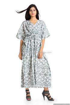 f5552628552 INDIAN 100% COTTON HANDMADE WOMEN KAFTAN TUNIC DRESS PLUS SIZE LONG MAXI  DRESS BEACH COVER