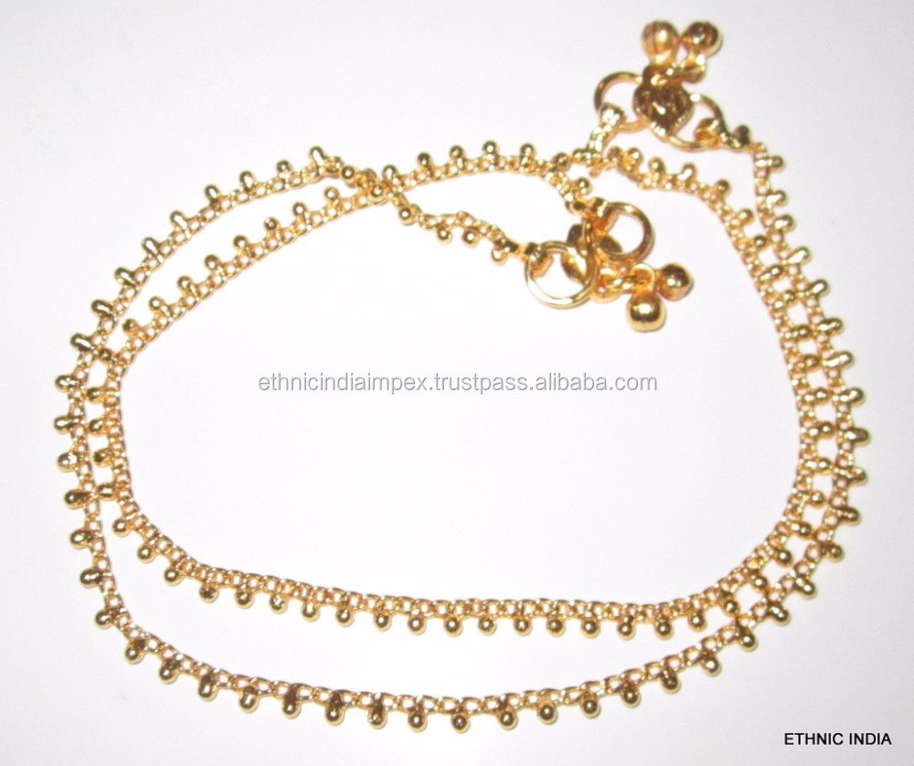 anklet jewelivery products gold