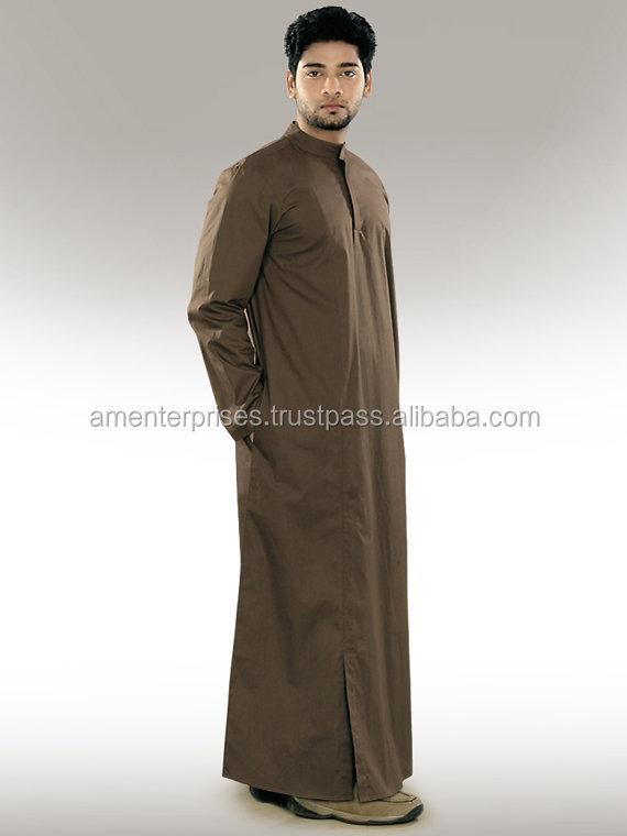 Mens Daffah Thobe - Dubai Muslim Fabric Daffah Jubba Saudi