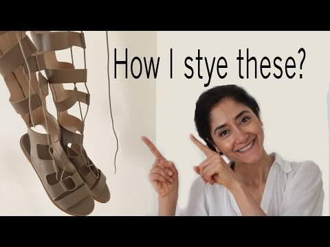 How to style the gladiator sandals - Knee High Gladiator Sandals