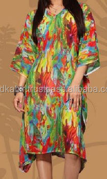 New Top Modern Style Kaftan, Home And Office Use Latest Design Pattern Multicolour and recent stylle ladies kaftan dress sale.