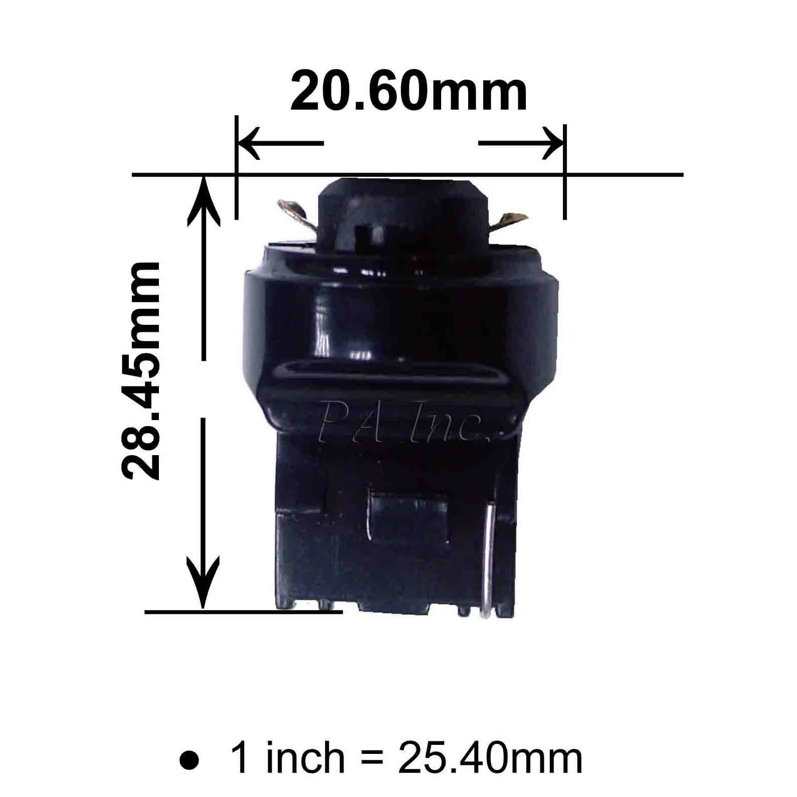 Led Light Lamp T10 To 7440 T20 Bulb Transform Connector Converter ...