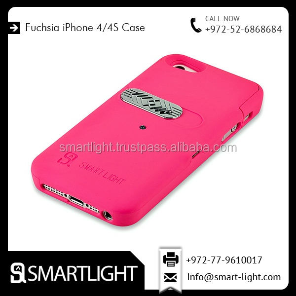 Eye Catching BeautifulFuchsia Case Cover Lighter For iPhone 4/4s