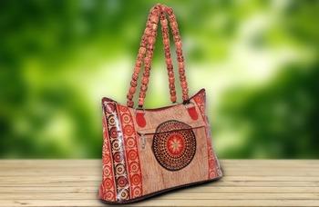 64baac4259 Leather Handbag From Shantiniketan