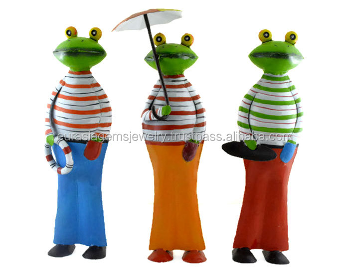 Exclusive New Set of 3 Decorative Frog indian statue home decor