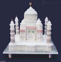 "6""x6"" Inch White Marble Color Taj Mahal Mumtaj Mahal Indian ..."