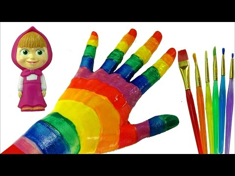 Learn Colors with Body Paint * Fun & Creative for Kids * Masha and the Bear