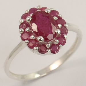 Natural RUBY Gemstone 925 Solid Sterling Silver Extra Ordinary Ring All Size