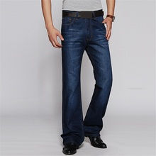Mens Flared Jeans Boot Cut Leg Flared Slim Fit Mid Waist Male Designer Classic Denim Jeans Pants Bell Bottom Jeans