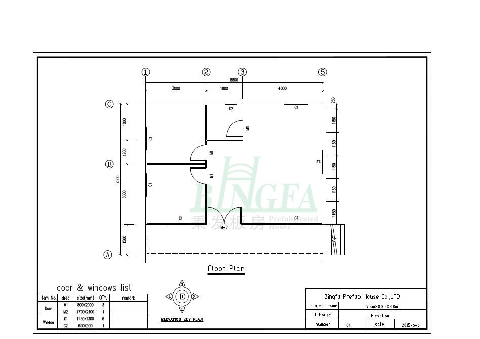 Villa house 2 bedrooms vh 8875 prefab home buy 2 bedroom for Bedroom 80 humidity