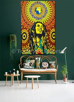 couvre lit bob marley Double Bob Marley Tapisserie Hippie Tenture Coton Couvre lit  couvre lit bob marley