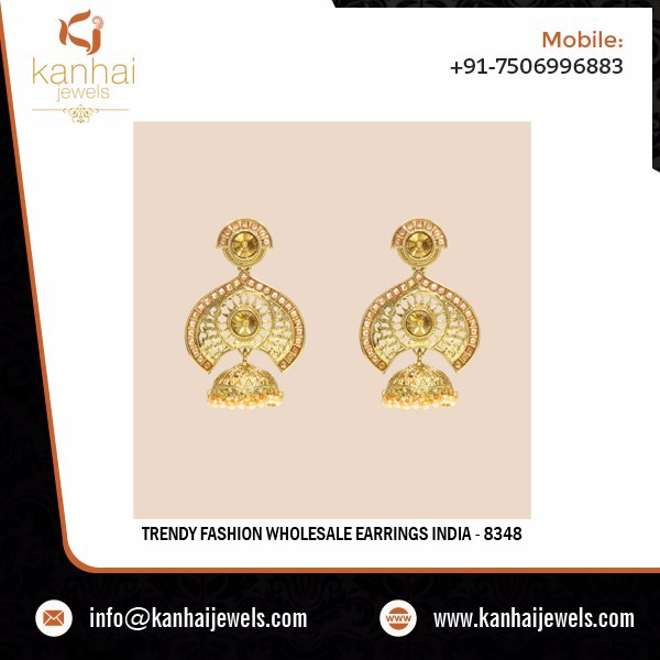 Trendy Fashion Wholesale Earrings India - 8348