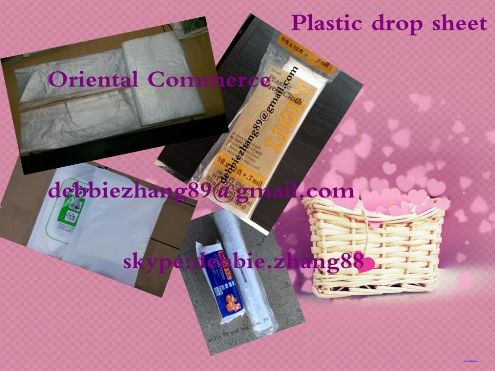 plastic dust sheet drop sheet paint cover sheet 4x5m