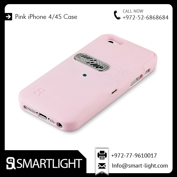 Convenient, Fashionable, and Perfect Fit Pink Mobile Case for iPhone 4/4s