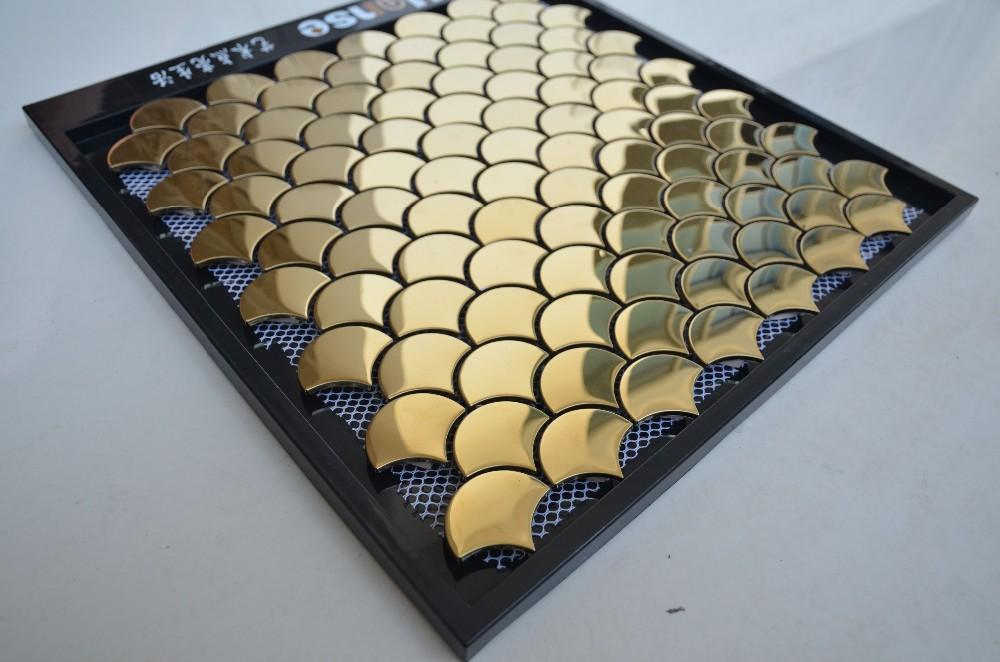 Ls Or Couleur Carreaux De Mosaïque En Aluminiumécaille De - Carrelage écaille de poisson