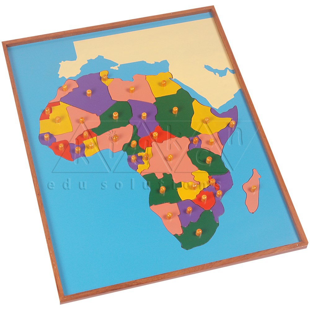 India Map Puzzle.Map Puzzle Africa