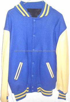 5beec5b677a Italian school   college boys baseball varsity jacket  sky blue wool body  and white real