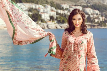 a73fb5dc21 Sakura - Pink Lawn 3 Piece Unstitched Suit - Buy Ladies 3 Piece Suits ...
