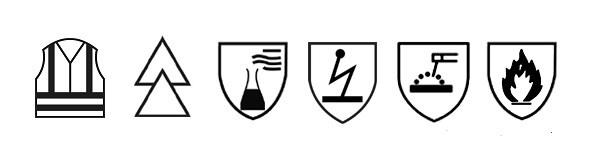 Kuvahaun tulos haulle EN ISO 11611 logot