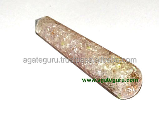 Crystal Faceted Orgone Massage Wands Healing Wand