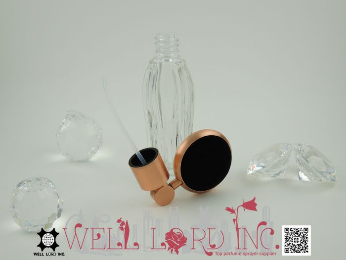 Best New Product pearl decoration lace bulb atomizer glass bottle