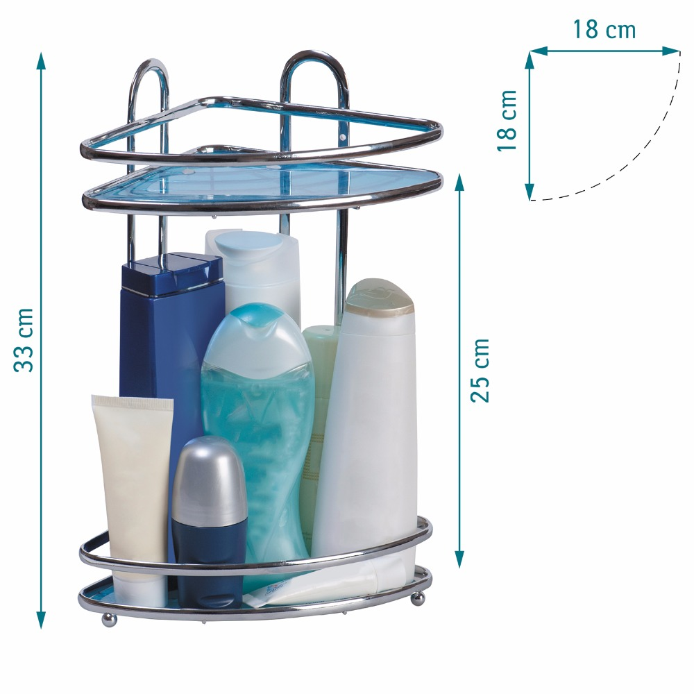 Tatkraft Kaiser Compact Corner Bathroom Rack Shower Caddy Antirust ...