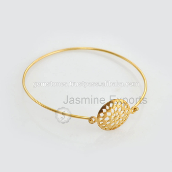 Handmade New Best Design 925 Sterling Silver Gold Plated Bracelets Whole Vermeil Jewelry