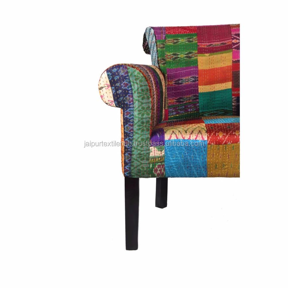 Muebles De Sala Tela Patch Work Diseño Indio Sillón Sofá - Buy ...