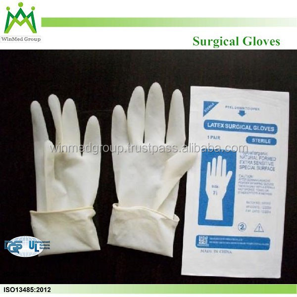 Powder and Powder Free Smooth Texture and Disposable Latex Surgical Examination Gloves