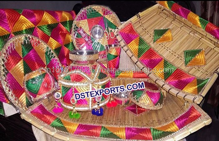 Punjabi Wedding Mehandi Decoration Phulkari Theme Wedding