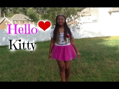 Cheap hello kitty costume for children find hello kitty costume get quotations halloween princess hello kitty makeup tutorial costume solutioingenieria Images
