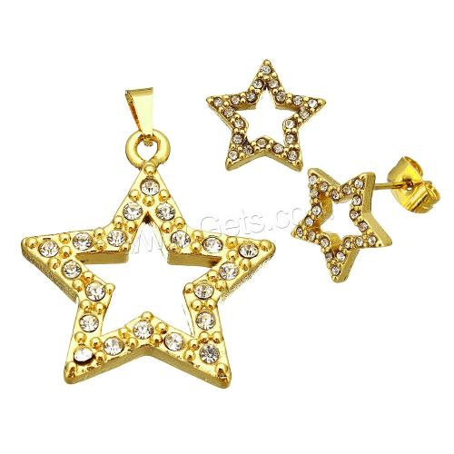 pendant earring 1138309 Stainless Steel jewllery sets fashion jewelry set