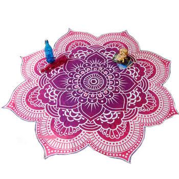Indian Pink Lotus Mandala Runde Strand Werfen Handtuch Tisch ...