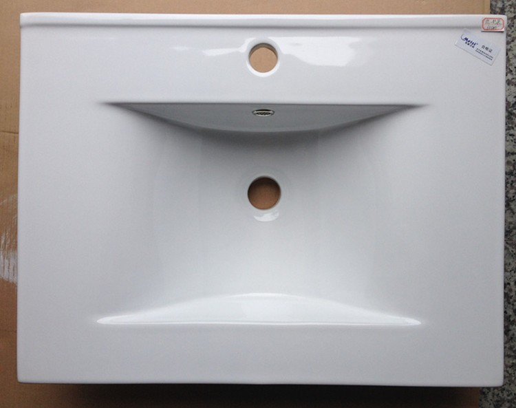 Ceramic bathroom laundry sink cabinet combo