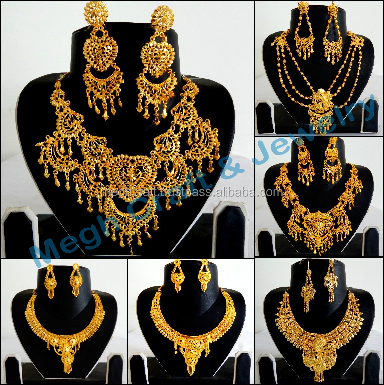 African Gold Plated Necklace Set Wholesale - Antique Gold Plated Jewelry - Bridal Jewelry -designer Gold Plated Jewellery - Buy Indian Bridal Gold Jewellery ... & African Gold Plated Necklace Set Wholesale - Antique Gold Plated ...