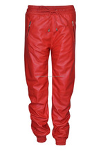 100% Lamb Leather Red Trouser for MEN