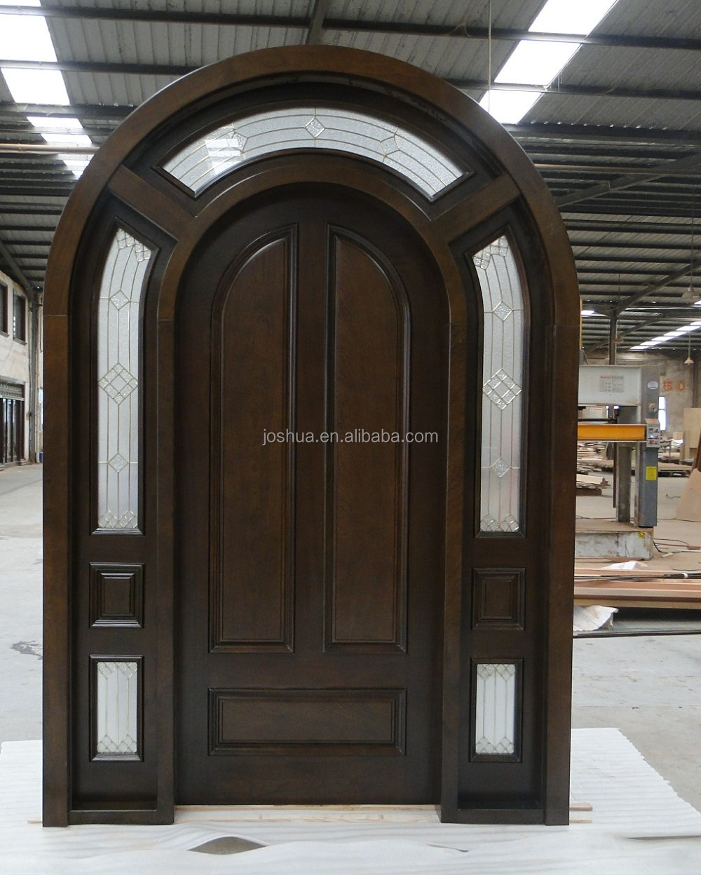 Where To Buy A Front Door: Arched Top African Mahogany Solid Wood Entry Door