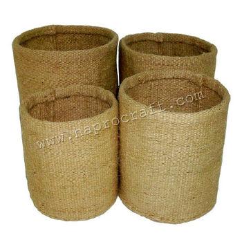 Round jute basket storage box  raw jute flower basket(TD 609/4)  sc 1 st  Alibaba & Round Jute Basket Storage BoxRaw Jute Flower Basket(td 609/4) - Buy ...