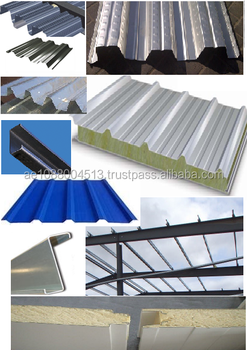 Purlins roofing cladding sheets sandwich panels decking for Roof sheathing material options
