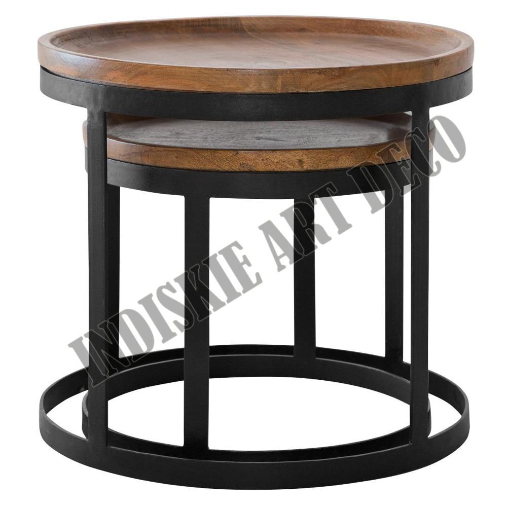 Mesa auxiliar de madera anidado reposteria industrial for Mesa auxiliar industrial