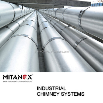 Industrial Building Chimney System For Big Project Stainless Steel Contact  Us Our Technical Team Support You #34 - Buy Generator Fireplace Stainless