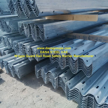 Guard Rail Beams Posts Spacers Fishtail Bolts Uae Oman Bahrain Kuwait -  Dana Steel - Buy Galvanized Steel Crash Barrier,Crash Barrier Manufacturer