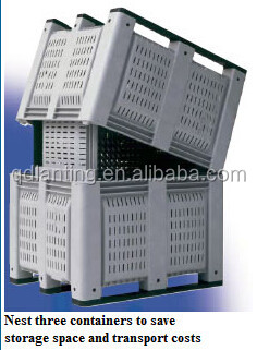 1200*1000*760mm wire mesh boxes plastic crates for fruits and vegetables