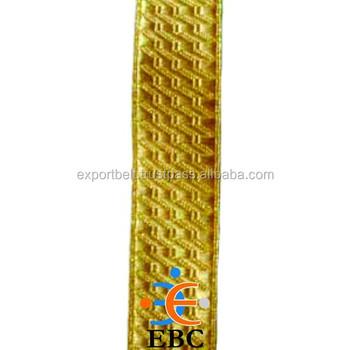 Ejército de encaje vestidos de uniforme Fancy Traje Trenza de oro Metal para militar