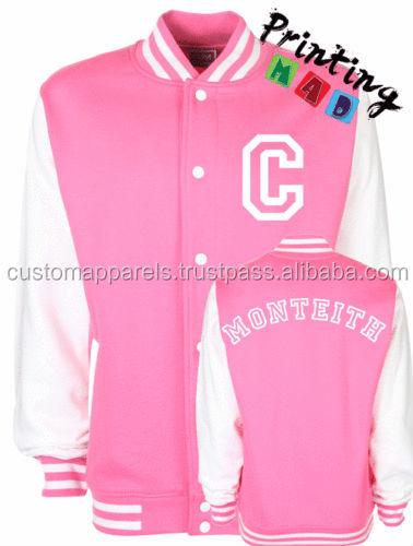Custom Pink Varsity Jackets / Custom Letterman Jackets / Custom ...