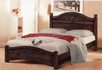 Wooden Hand Carved Mahogany Bed Classic Design Wooden BedEuropean