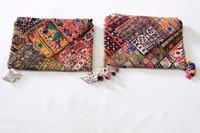 Indian Tribal Banjara Clutch Bag Gypsy Embroidery Vintage Banjara Clutch Cotton Hand bag