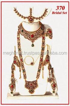 Arabic Polki Bridal Jewelry Set With Necklace Mang Tikaonline